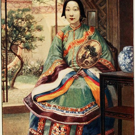 Femme chinoise, dessin de Norman H. Hardy, 1908 / source : Internet Archive